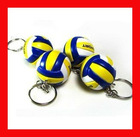 Promotional Gift Customized Logo Eco-Soft PU Foam Volleyball Keychain Toy