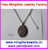 vintage and cheap colorful diamond nickle free alloy necklace scarf pendant FV4026