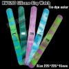 Fashion tie-dye silicone slap watch digital