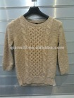 sweater ladies' pullover cable design wool blend yarn