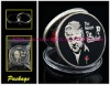 Godfather silver coin in soft enamel