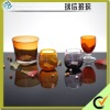 Finesse Glass Candle holder in orange