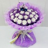 Plush Purple Gold And White Rose Flowers