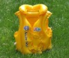 inflatable swimming vest, yellow life jacket, life vest