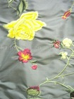 Yarn-dyed douppion embroidery silk fabric-106