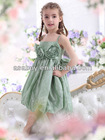 New Stock A Line Tank Top Tea Length Tulle Ivory Flower Girl Dress