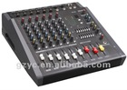 6 channel power mixer console for studio stage