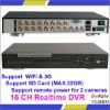 D1 + CIF16 Channel DVR, H.264 Mobile Phone View DVR Support WIFI&3G,Stand Alone DVR
