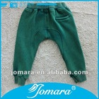 2013 new design green boy long pants for winter
