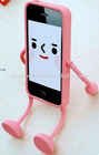 Cute Appitoz 3D Robot Silicone Stand Case for apple iPhone4 4G 4S