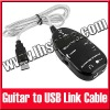 USB to Guitar Interface Link Cable PC/MAC Audio Recording Effects Adapter