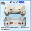 Hot Design! Ceramic Bone Shaped Dog Bowl (DS-P1207)