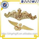 3D Crown/gold brass lapel pin/blank lapel pins