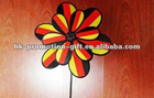 Promotional colorful flower kids toy windmill