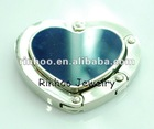 Fashion Foldable Heart Shape Alloy Handbag Holder jewelry accessories