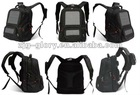 Solar charger backpack bag for laptop etc.