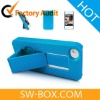 Smart Stand Case for iPhone 4S iPhone 4 with Charging Connector Plug Stoppers - Blue