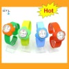 2012 hot flower style children snap watch band interchangeable slap bands watches