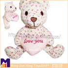 colorful lover stuffed elegant teddy bear
