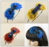 Star's favourate luxurious and highly personalized handmade bowknot feather hairdband
