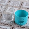Soft glass ware with soft silicone