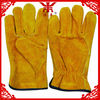 different colors 10.5 inches cow split leather working gloves