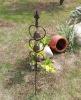 iron bell garden stake