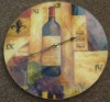 Art Glass Wall Clock for home Decorative