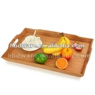 Bamboo tray with handles