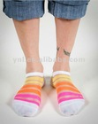 Striped Sheer No Show Ankle Socks