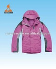 Lady quilted padded jackets with hood