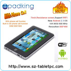 7 Inch Android 2.3 OS Built in 2G Phone Call With WIFI Tablet PC