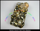2012new fashion transparent clear with sparkling bling crystal diamond case for iphone 4S
