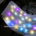 beautiful and colorful shining light blanket