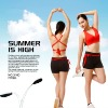 lady's new fashion sexy sportswear yoga sets fitness red bra top and black skirts PTT mix sizes good quality and nice fitting