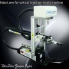 Vertical injection molding machine robots