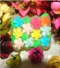 hand made flower shape silicone soap molds