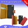 Mobile phone multi-functional leather magnetic flip movable cover wallet case for iphone 5g