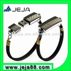 L-8013 cheapest oem usb leather bracelet