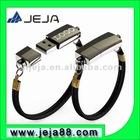 L-8013 cheapest oem usb leather bracelet