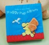 colorful educational pup album baby play cloth book