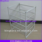 KingKara KAKSR014 4-Layers Metal Wire Kitchen Storage Basket Stand