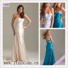 2090-1hs Elegant Sweetheart Ecru Beading Sheath Ruching Open Back Floor Length cocktail prom dress