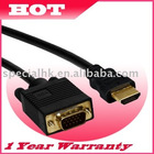 1.8M Gold HDMI to VGA Cable for HD-15 Male Cable