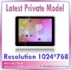 Private Model !! 1024*600 pc tablet laptop