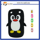 Cute Penguin 3D Silicone Case for Blackberry Curve 9220