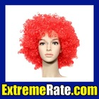 Party Afro Wig for Masquerade Party Red