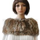 YR-019 Ladies' genuine rabbit knitted neckwear elastic snood fur scarf