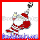 Wholesale Custom Metal Charm Jewelry Enamel Santa Claus Dangle Charms