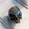 Hot sell finger ring fashion jewelry ring styles More models skull skull ring with glasses with enamel Halloween ring JZ-096